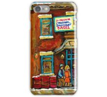 HOCKEY GAME NEAR THE FAIRMOUNT BAGEL MONTREAL  iPhone Case/Skin