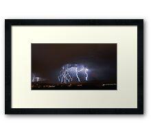 Massive Lightning Strike over NSA Location Framed Print
