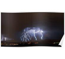 Massive Lightning Strike over NSA Location Poster