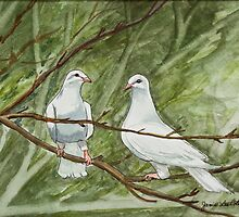 Two White Doves by Janis Lee Colon