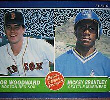 300 - Rob Woodward | Mickey Brantley by Foob's Baseball Cards