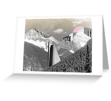 BRUTAL MOUNTAIN. Greeting Card