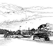 Blockhouse Island Brockville 1859 by John W. Cullen