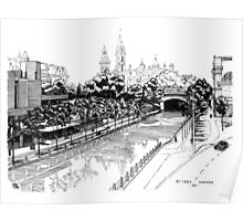 Rideau Canal Ottawa 1971 Poster