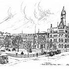 Gore Park Hamilton 1870 by John W. Cullen