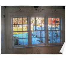 Rustic Windows On The World, East Jersey Olde Towne Village Poster