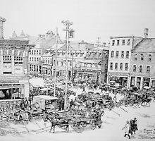 Byward Market Ottawa, 1923 by John W. Cullen