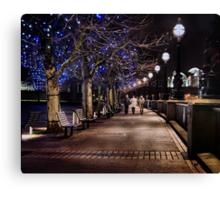 A Stroll Along The Thames Canvas Print