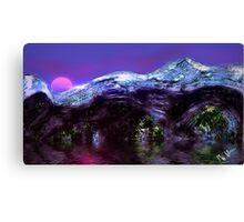 Mountain Sunset in Winter  Canvas Print