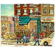 HOCKEY ART ST.VIATEUR BAGEL MONTREAL ORIGINAL PAINTINGS AND PRINTS Poster