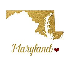 Maryland state map by AnnaGo