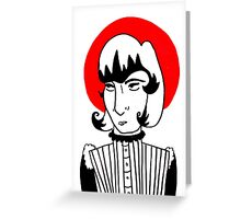 Red halo lady Greeting Card