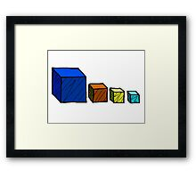 Realm of the Mad God - Cube God Cubes Framed Print