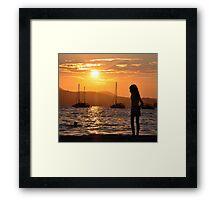 Roxie Silhouette Framed Print