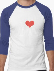 I Heart Doctor Who Men's Baseball ¾ T-Shirt