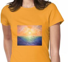 Sailing at the Sunset Womens Fitted T-Shirt