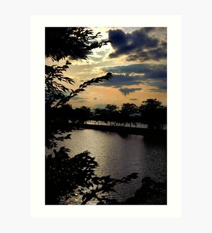 Sunset on The Charles Art Print