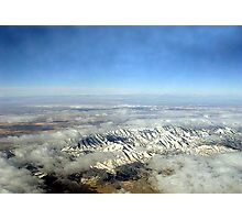 Frozen Rocky Mountains Photographic Print