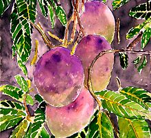Mango tree fruit still life painting art by derekmccrea