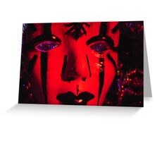 wild woman don't get the blues Greeting Card