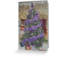 Lavender Garland Christmas Tree Greeting Card