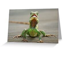 Little green reptile ! Greeting Card