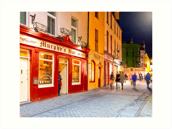 Pub Stroll In Galway At Night by Mark Tisdale