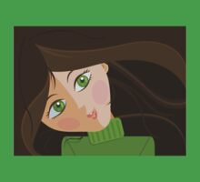 Green eyes portrait t-shirt by oksancia