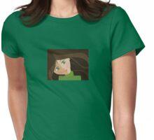 Green eyes portrait t-shirt Womens Fitted T-Shirt