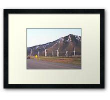 Farming The Wind Framed Print