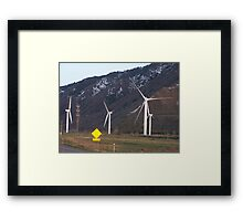 Harnessing The Wind Framed Print