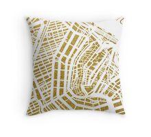 Gold Amsterdam map, Netherlandes Throw Pillow