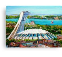 MONTREAL OLYMPIC STADIUM MONTREAL SKYLINE PAINTINGS Canvas Print