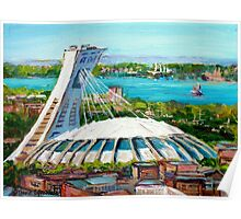 MONTREAL OLYMPIC STADIUM MONTREAL SKYLINE PAINTINGS Poster