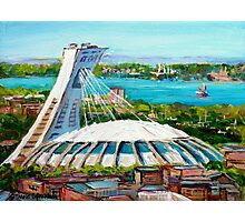 MONTREAL OLYMPIC STADIUM MONTREAL SKYLINE PAINTINGS Photographic Print