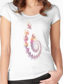 Fractal trail Women's Fitted Scoop T-Shirt