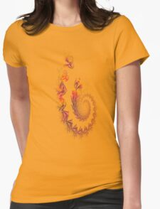 Fractal trail Womens Fitted T-Shirt