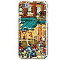 HOCKEY ART ST.VIATEUR BAGEL MONTREAL ORIGINAL PAINTINGS AND PRINTS iPhone Case/Skin