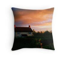 Lodge Farm Cottage - the home of the artist Throw Pillow