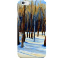 WINTER SCENE LANDSCAPE CANADIAN ART PAINTINGS iPhone Case/Skin