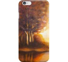 Golden Autumn landscape iPhone Case/Skin
