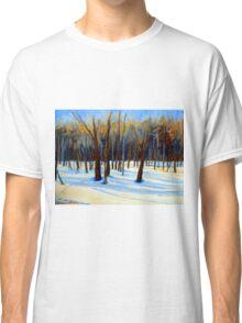 WINTER SCENE LANDSCAPE CANADIAN ART PAINTINGS Classic T-Shirt