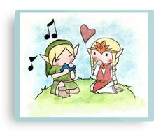 Link and Zelda Metal Print