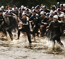 Triathlon Race Start by Elodie