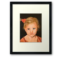Jennifer on Canvas Framed Print
