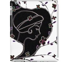 Young girl in a hat iPad Case/Skin