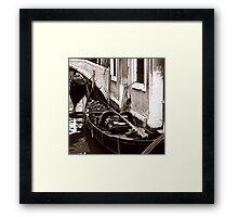 Gondolas Sleeping Framed Print