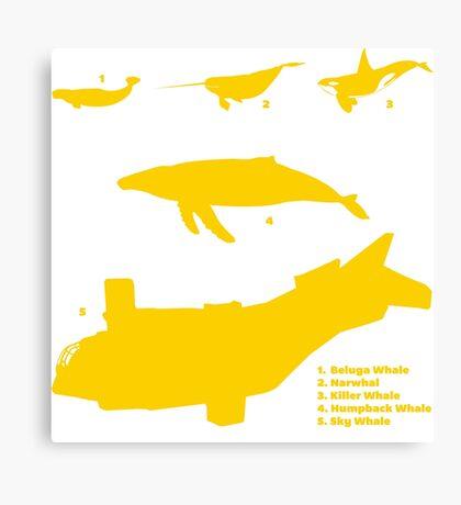 Whale Comparison Chart, NC Canvas Print
