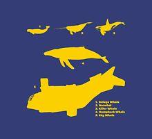 Whale Comparison Chart, NC Unisex T-Shirt