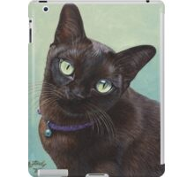 Black Burmese Cat Moose - Rectangle iPad Case/Skin